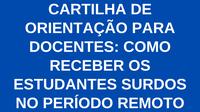 CARTILHA DE ORIENTAÇÃO PARA DOCENTES